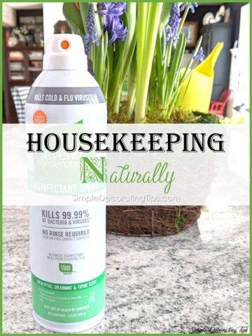 Housekeeping naturally disinfectant spray simpledecoratingtips.com