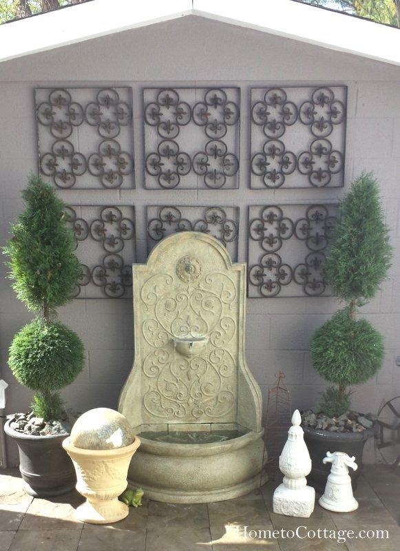 HometoCottage.com fountain wall