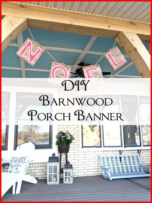 DIY Barnwood Porch Banner - SIMPLE DECORATING TIPS