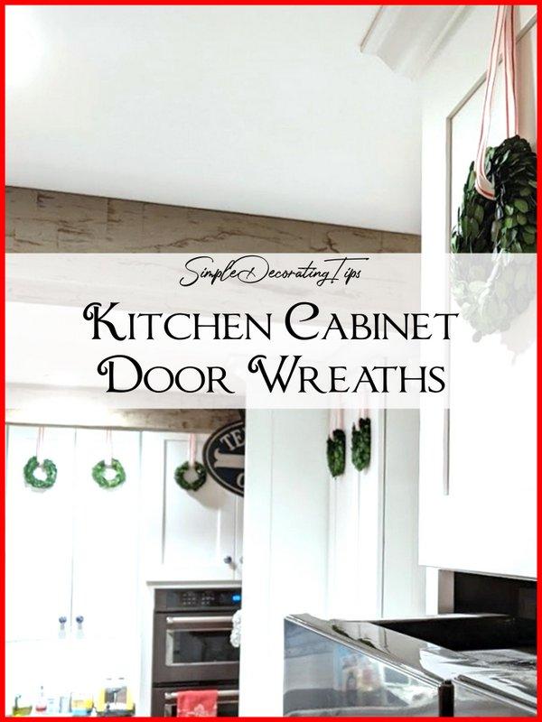 Kitchen Cabinet Door Wreaths - SIMPLE DECORATING TIPS