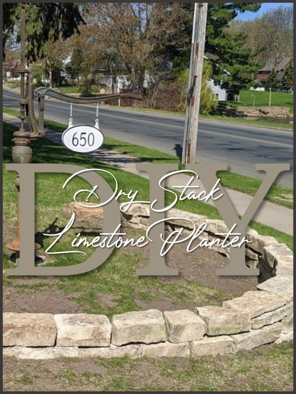 Dry Stack Stone Planter - SIMPLE DECORATING TIPS