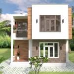 Modern House Plans 6 5x7 5m 21x25f 2 Beds Simple Design House