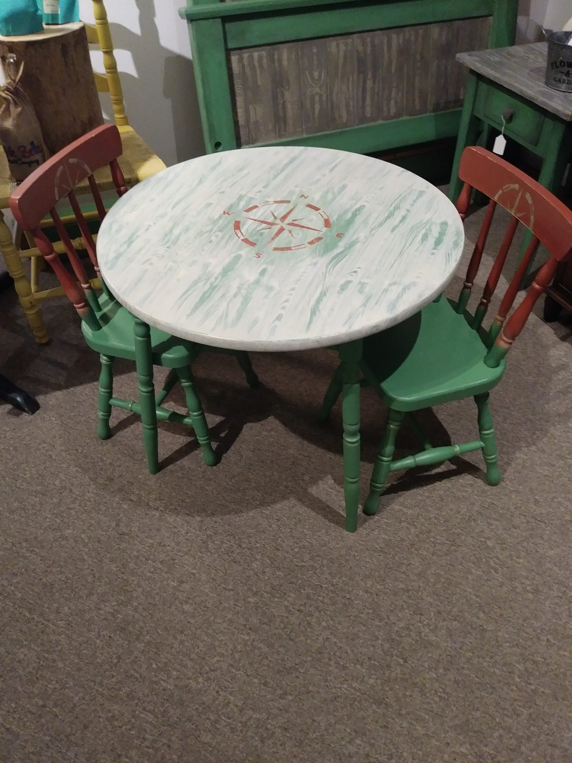 Childrens Table W Chrs Painted W Dixie Bell Unisex Non Gender Specific A Simple Find