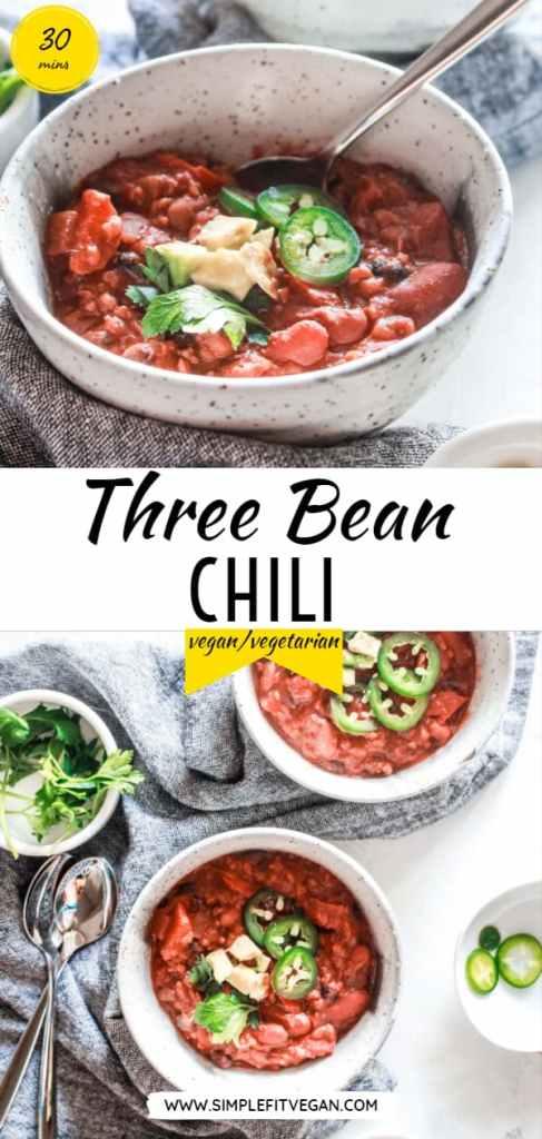 Three Bean Chili Simplefitvegan