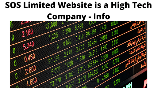 SOS Limited Website is a High Tech Company - Info