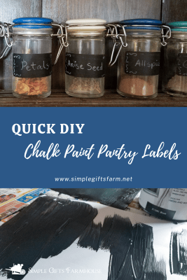 quick diy chalk paint pantry labels