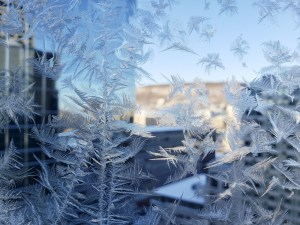 Frost on Our Hotel Window