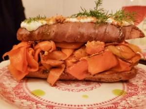 Eclair du Carrottes Fuméss at Le Vin Papillon