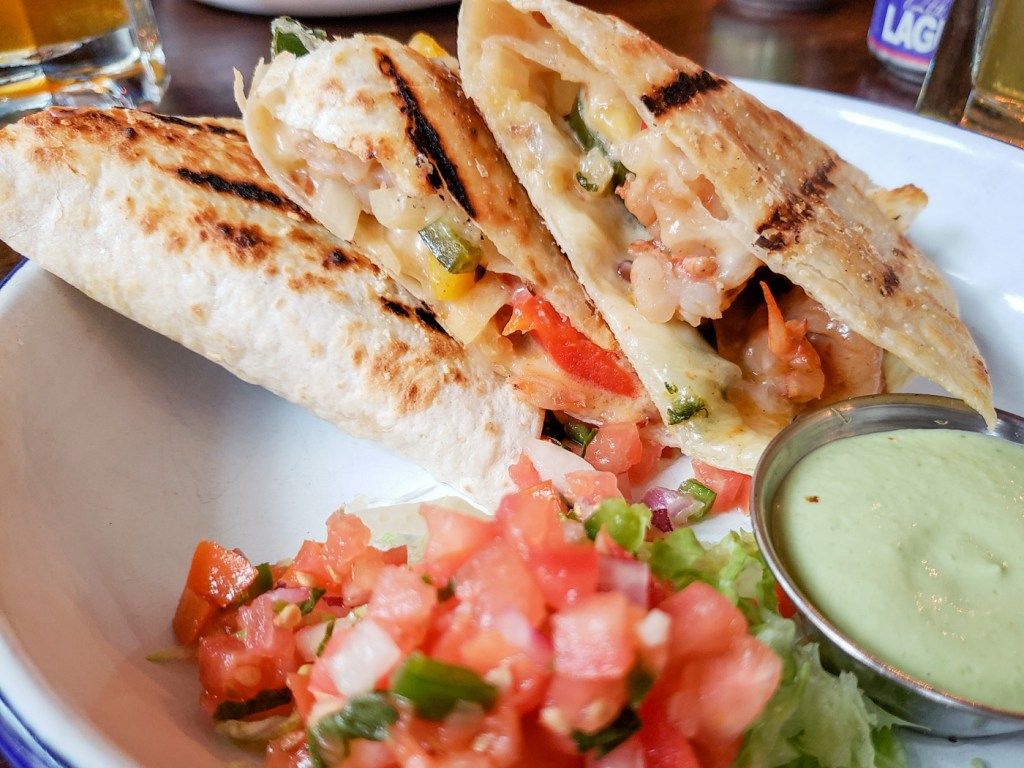 Garlic Shrimp Quesadilla at Tio Flores