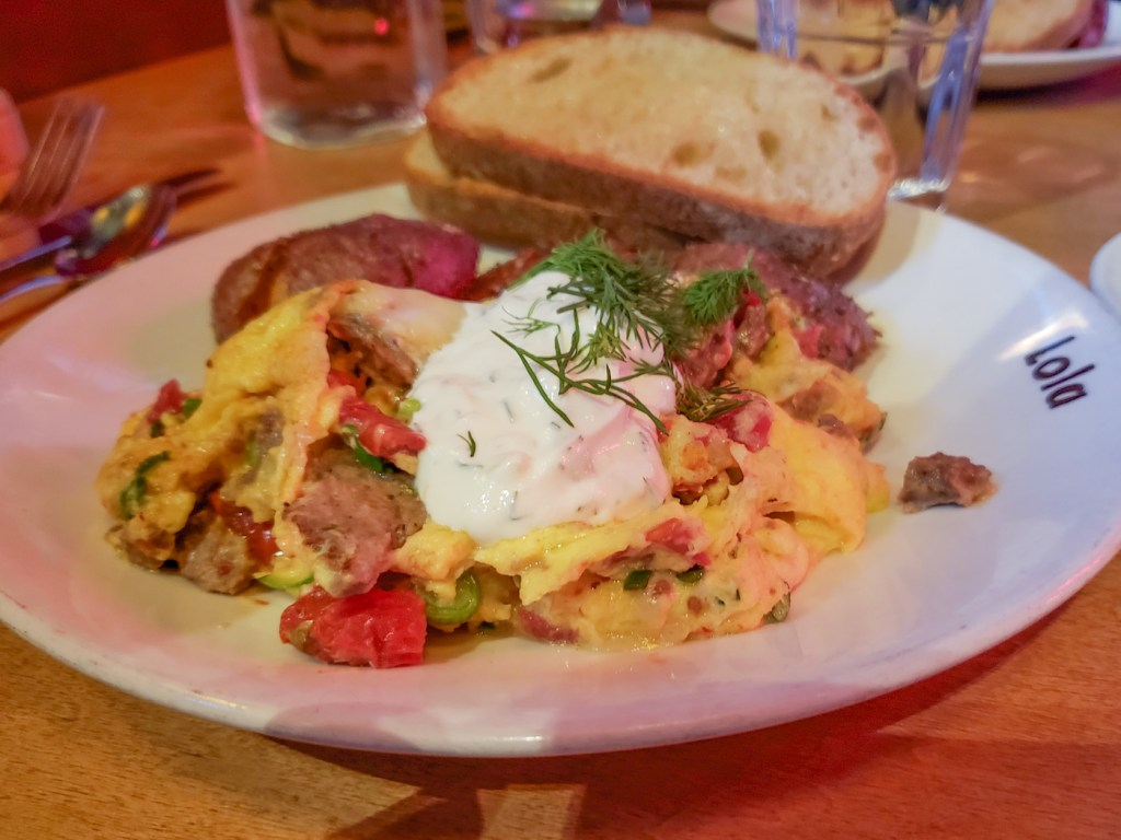 Greek Scramble at Lola