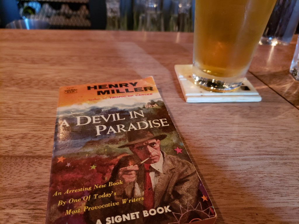 Pulp Version of Henry Miller's A Devil in Paradise an a Beer