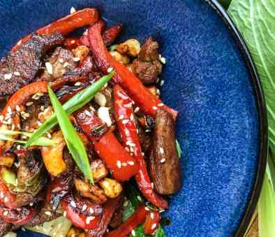 pork and cashew stir fry