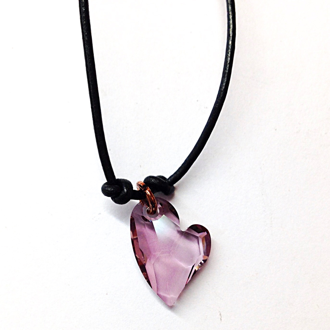 Antique pink heart necklace simple graces jewelry antique pink heart necklace purple heart pendant necklace aloadofball Gallery