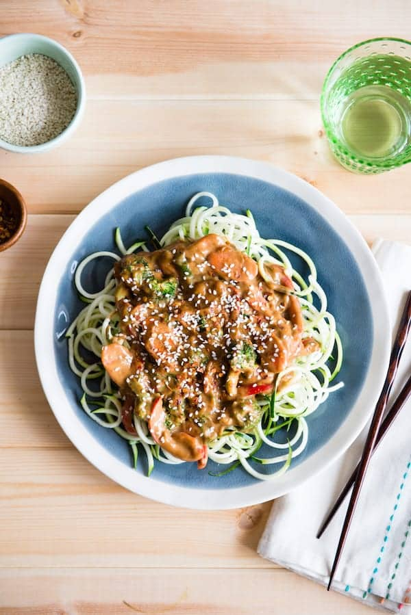 Almond Butter Zoodles