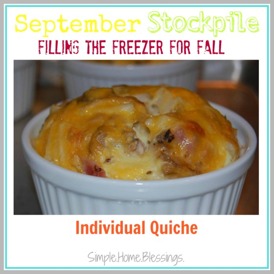 Individual Quiche - September Stockpile