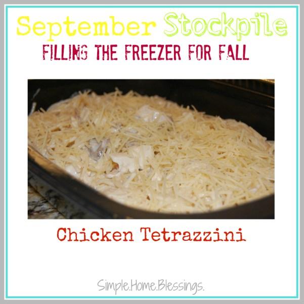 September Stockpile Chicken Tetrazzini