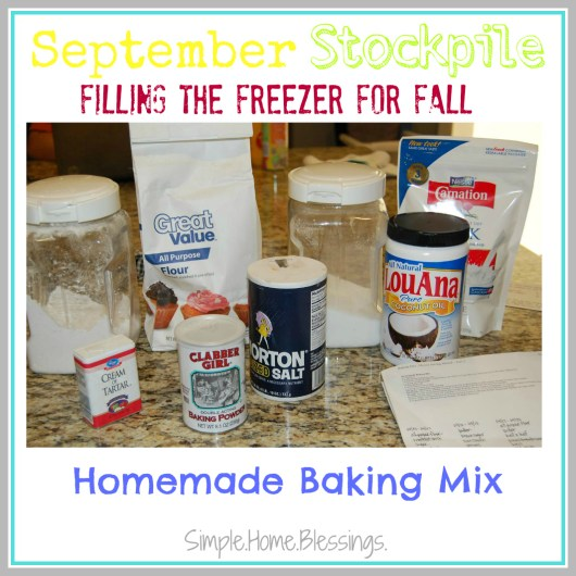 September Stockpile Homemade Baking Mix