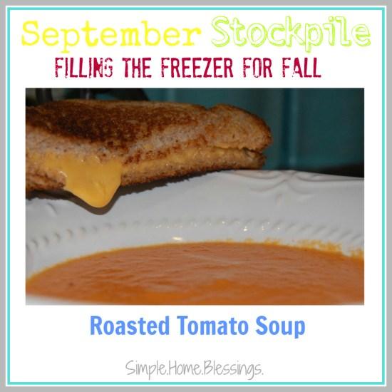September Stockpile Roasted Tomato Soup