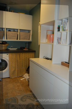 clean laundry room before