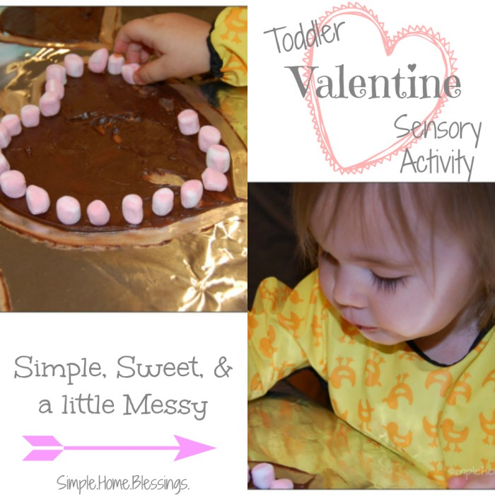 Toddler Valentine Sensory Activity