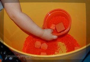 orange sensory bin 2