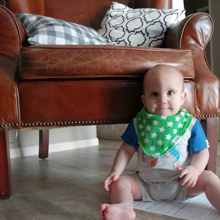 Teething TIp #3 Good cotton backed Bibs are SO necessary for all the drool!