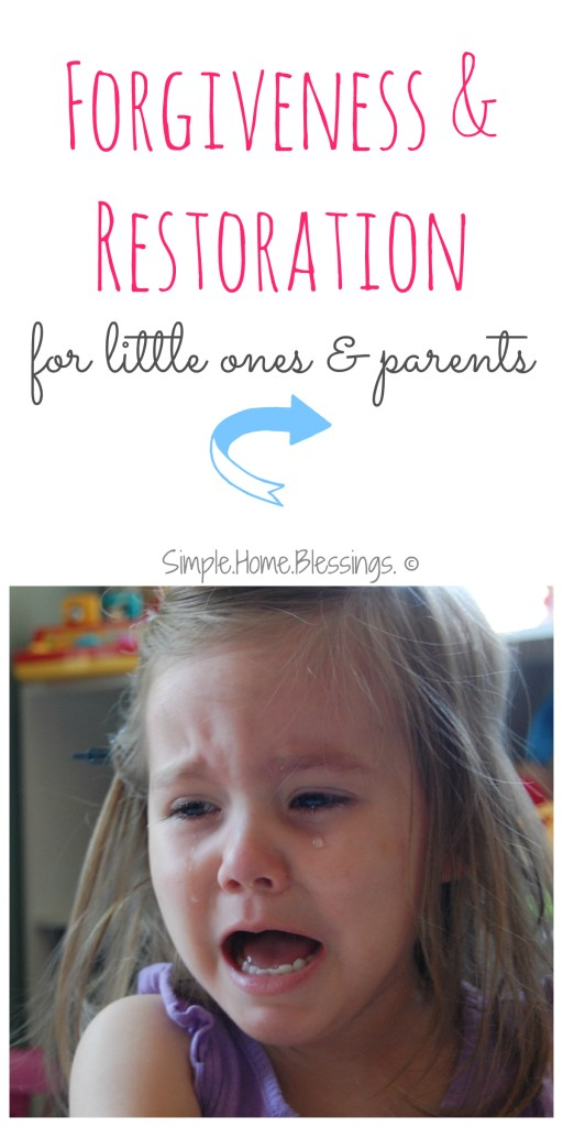 Forgiveness and restoration for little ones
