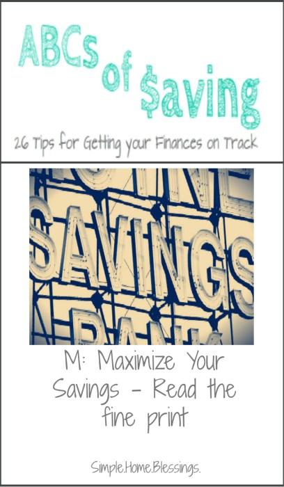 ABCs of Saving Maximize Your Savings