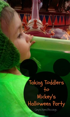 Taking Toddlers to Mickey's Halloween Party