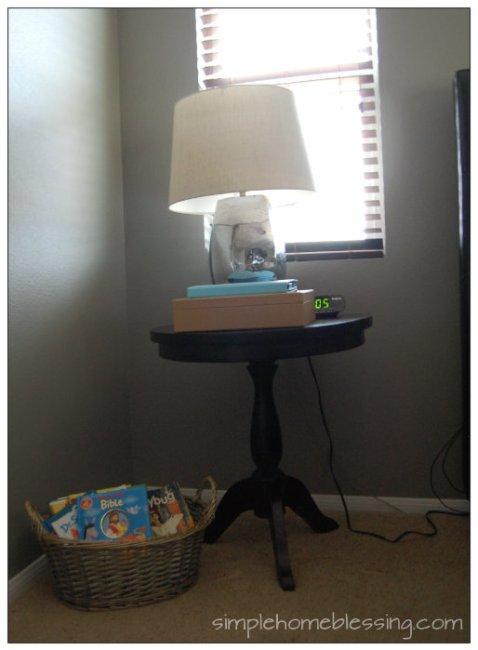 bedside table organization