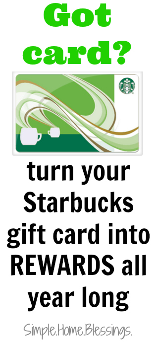 Turn your Starbucks Giftcard into Rewards