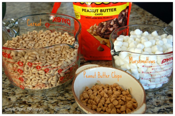 Peanut Butter Cereal Bars - Ingredients