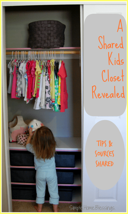 A Shared Kids Closet Makeover reveal - tips and sources