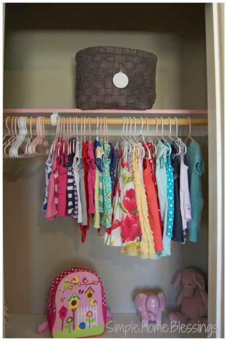 Girls Shared Closet Makeover Reveal - top right