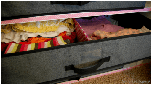 Shared Closet Drawer Bins with divider