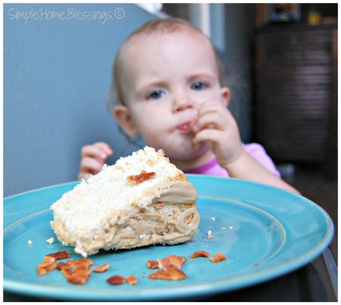Maple Angel Food Cake - photobombed!
