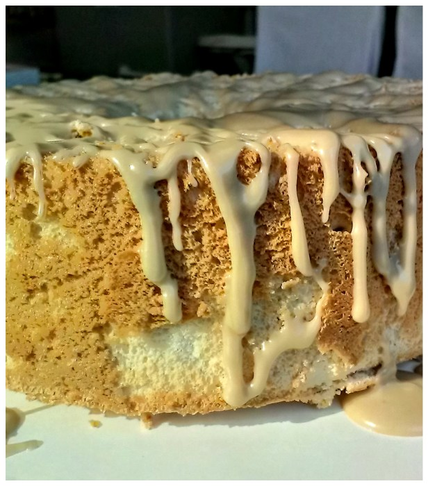 Maple Angel Food Cake with Maple Icing