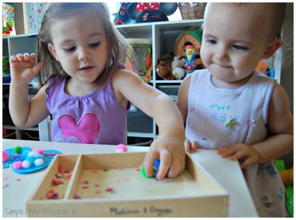 Toddler Butterfly Craft - teamwork