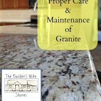 Proper Care and Maintenance of Granite