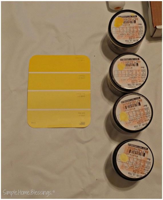 DIY Paint Sample Art - colors