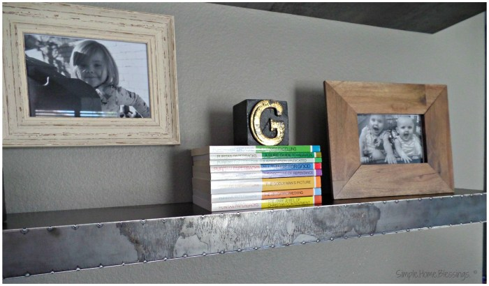 Create a Layered Look for your shelves - detail