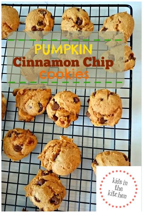 Kids in the Kitchen - Pumpkin Cinnamon Chip Cookies - so simple!