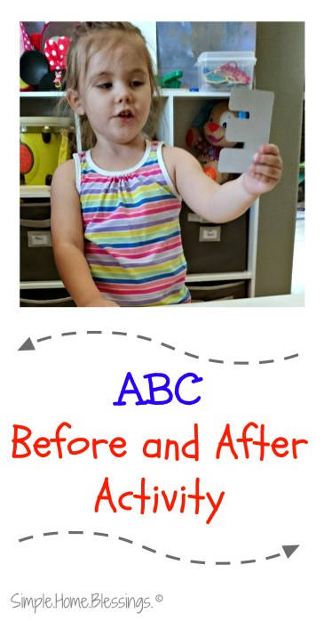 Simple Alphabet Sequencing Activity for preschoolers