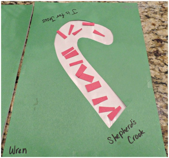 Candy Cane craft - so simple toddlers can do it