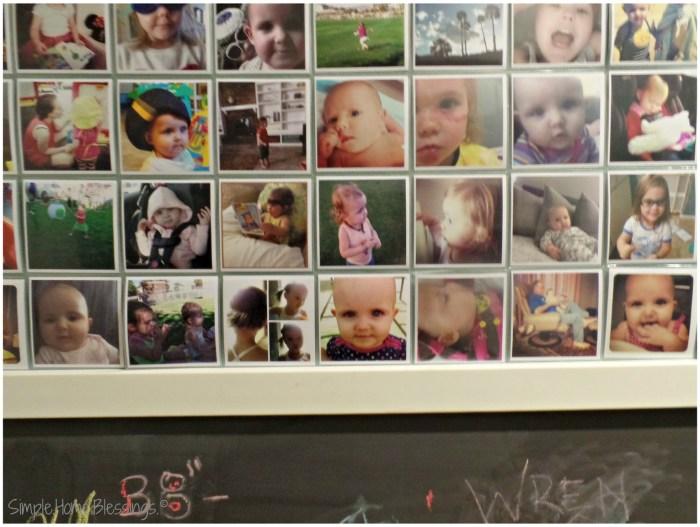 Family Insgtagram Display, bottom rail