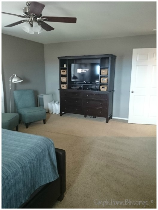 orderly master bedroom