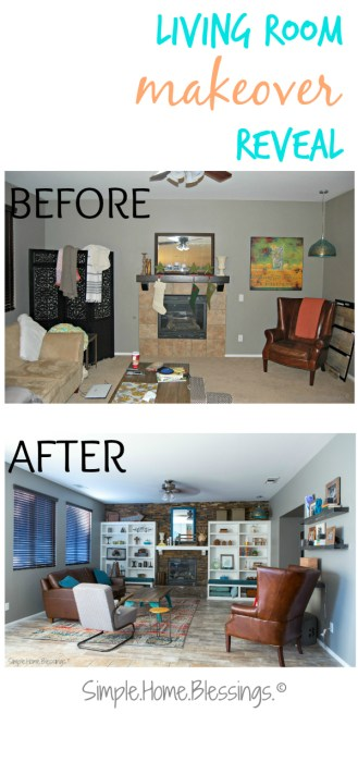 Living room makeover - before and after