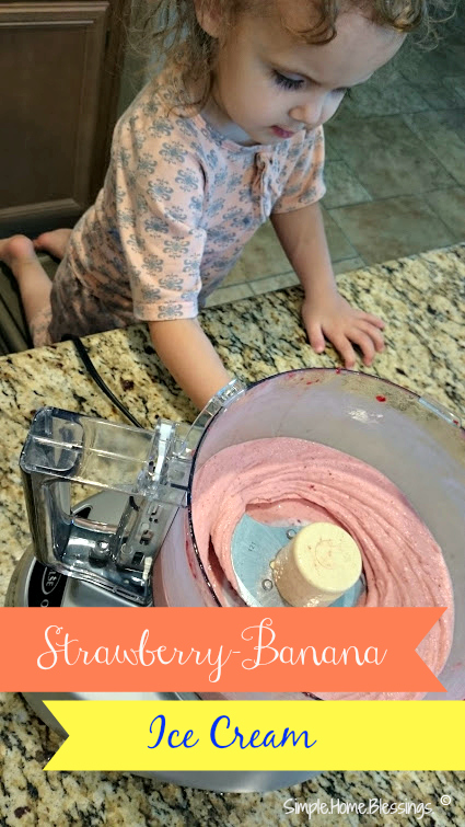 Strawberry Banana Ice Cream - get kids in the kitchen to make this simple recipe
