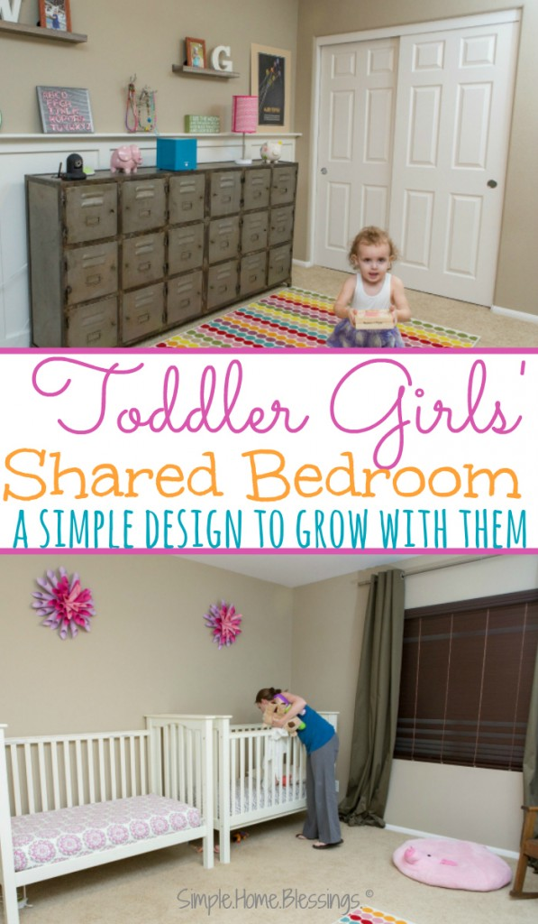 Toddler Girls' Shared Bedroom - a simple design that will grow with them through the years - love the lockers!