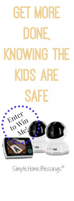 how one mom is using a video camera monitor to get more done in her day (plus a GIVEAWAY!)